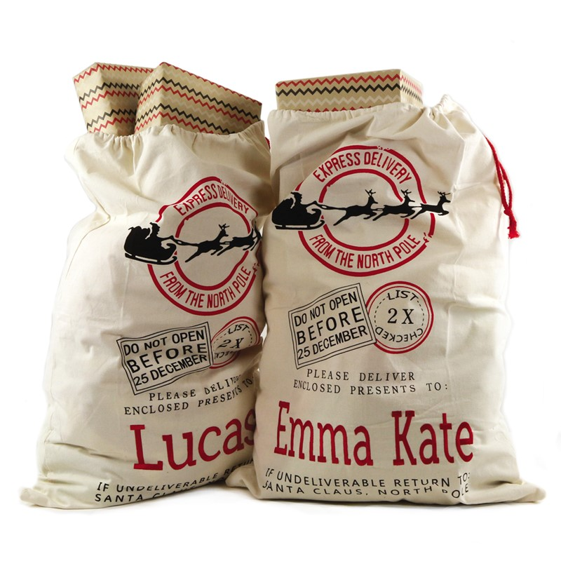 Personalized Santa Gift Sack - Bag for Child's Gift