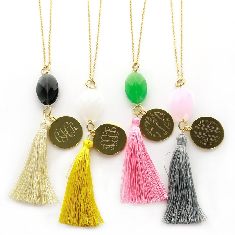 Personalized Tassel Necklace